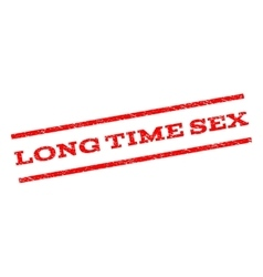 Long Time Sex Watermark Stamp vector image