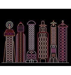 Neon city vector