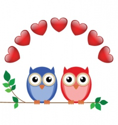 owl valentine vector image vector image