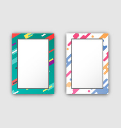 photo frames set with color border abstract figure vector image vector image