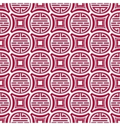 Seamless pattern in the tibetan style chinese vector