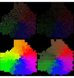 Set of Abstract rainbow colorful background vector image