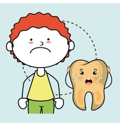 Tooth sick child isolated icon design vector