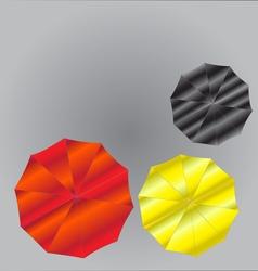Umbrellas from Top View vector image vector image