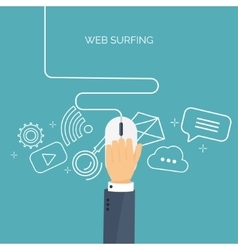 Web surfing Internet Mouse vector image vector image