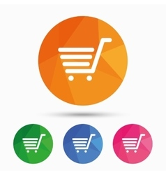 Shopping cart sign icon online buying button vector