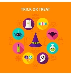 Trick or treat infographic concept vector