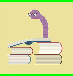 bookworm reading books vector image