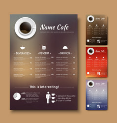 Design a menu for the cafe shops or coffee with a vector