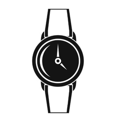 Wristwatch icon simple style vector