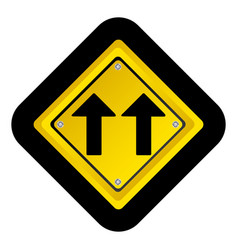 Notice warning emblem with sign icon vector