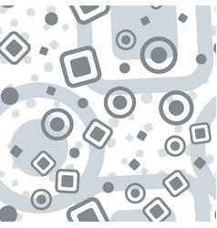 Circles squares seamless pattern abstract plain vector