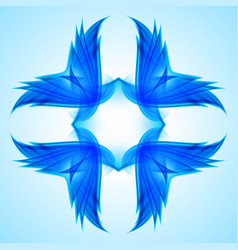 abstraction blue symbol for web design vector image
