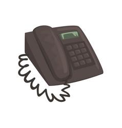 Classic office phone cartoon vector