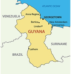 Co-operative republic of guyana - map vector