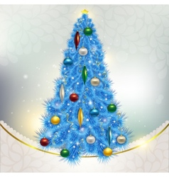 Abstract background with elegant christmas blue vector