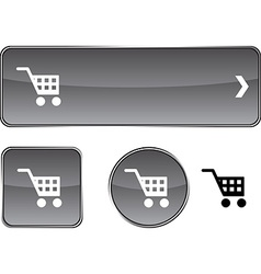 Buy button set vector