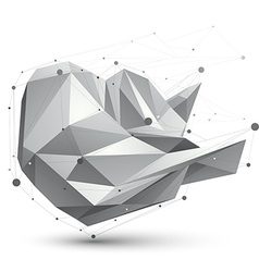 3d mesh modern polygonal abstract object origami vector