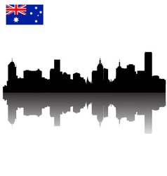 melbourne silhouette skyline vector image