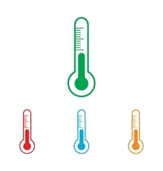 Thermometer sign colorfull set vector