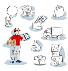 Shopping delivery vector