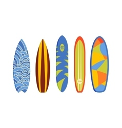 Surfing boards vector