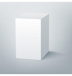 Blank isolated box mockup with shadow 3 vector image vector image
