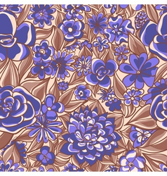 blue floral pattern vector image