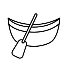 Canoa boat isolated icon vector