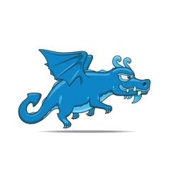 Cartoon dragon character vector image