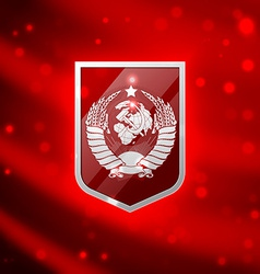 Coat of arms Soviet Union vector image vector image