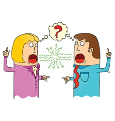 Couple arguing vector
