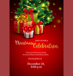 holiday party invitation image vector image vector image
