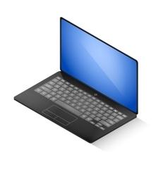 Isometric laptop vector image vector image