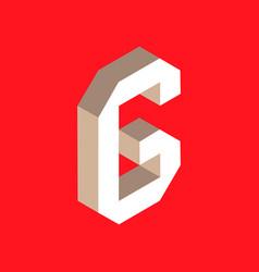 isometric letter g vector image