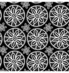 Lace seamless pattern with flowers and leaves vector image vector image