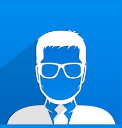 Male avatar profile vector