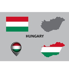 Map of Hungary and symbol vector image