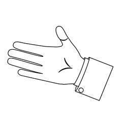 Monochrome silhouette with right hand palm vector