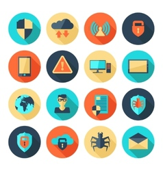 Network Security Icons vector image vector image