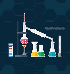 Organic chemistry Synthesis of substances Border vector image vector image