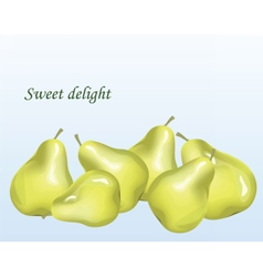 Pears fruit background vector