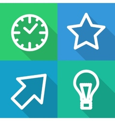 Set of contoured flat icons vector