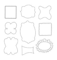 Set of simple funny black frame vector image