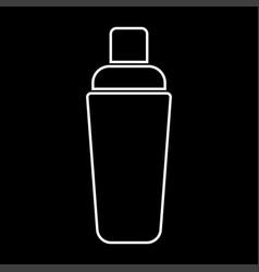 shaker white color icon vector image
