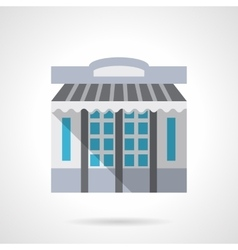 Stationery store facade flat color icon vector image vector image