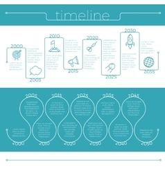 timeline busines edition vector image vector image