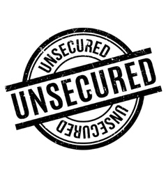 Unsecured rubber stamp vector