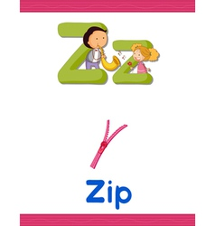 Learning Alphabet Z vector image