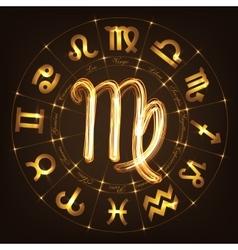 Zodiac sign Virgo vector image